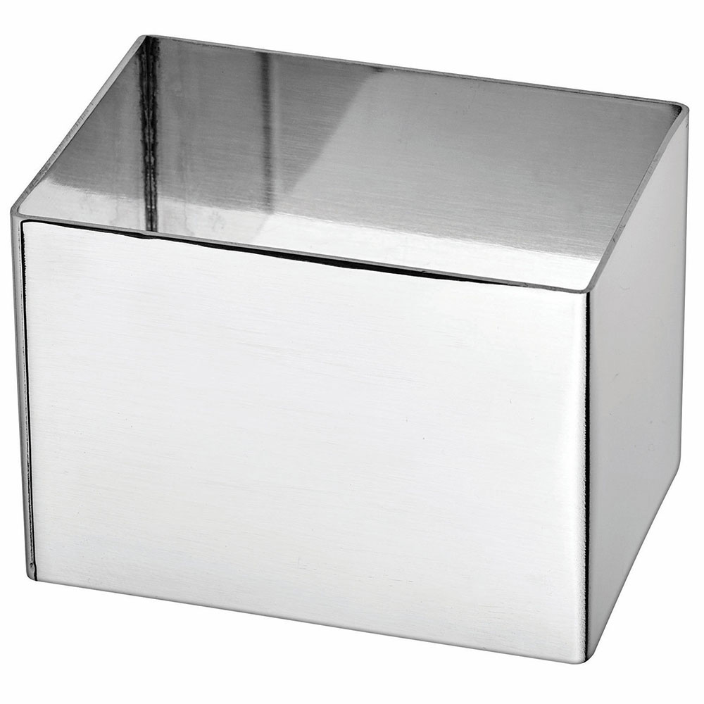 """Winco SPM-211T Rectangular Pastry Mold - 2.5"""" x 1.75"""", Stainless"""