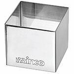 "Winco SPM-22S Square Pastry Mold - 2"" x 2"", Stainless"