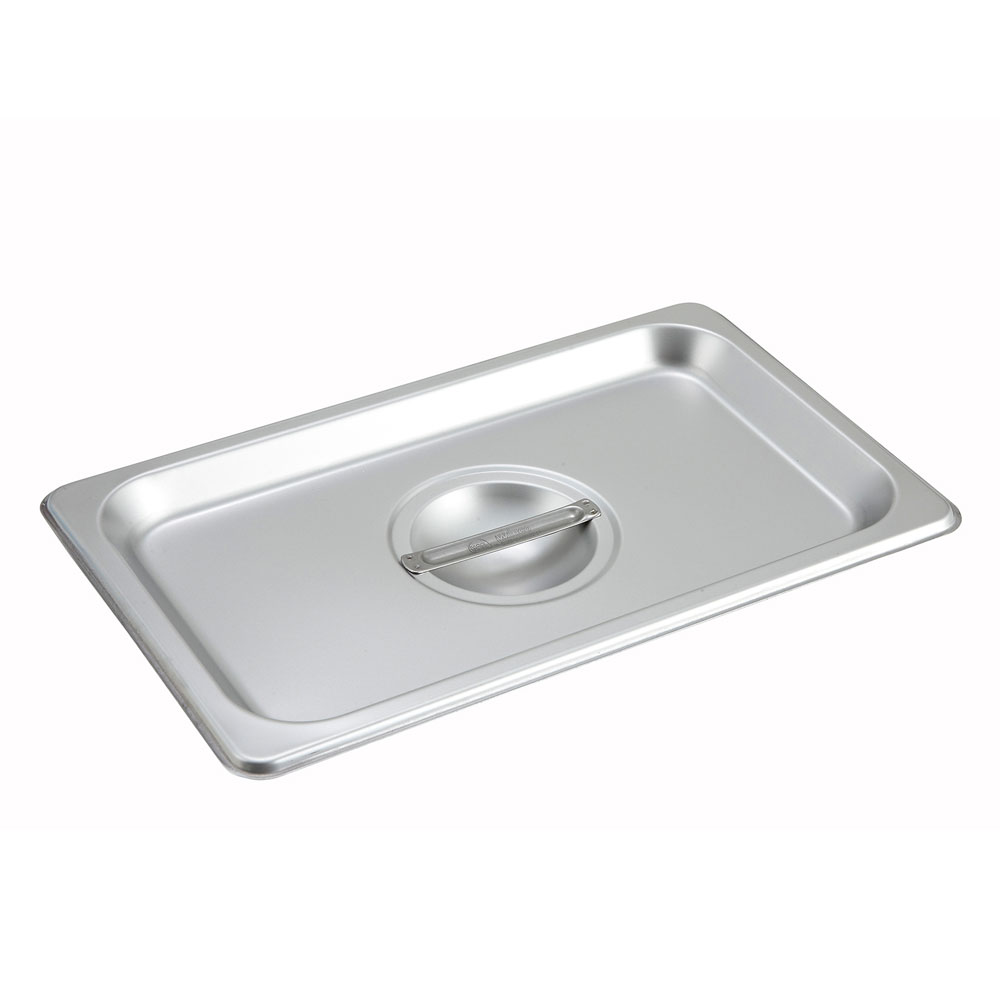 Winco SPSCQ Fourth-Size Steam Pan Cover, Stainless