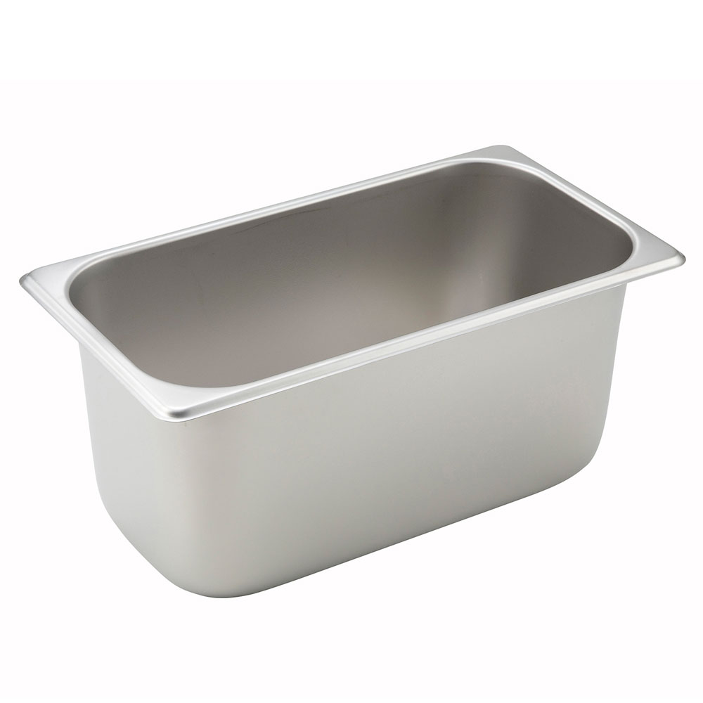 Winco SPT6 Third-Size Steam Pan, Stainless