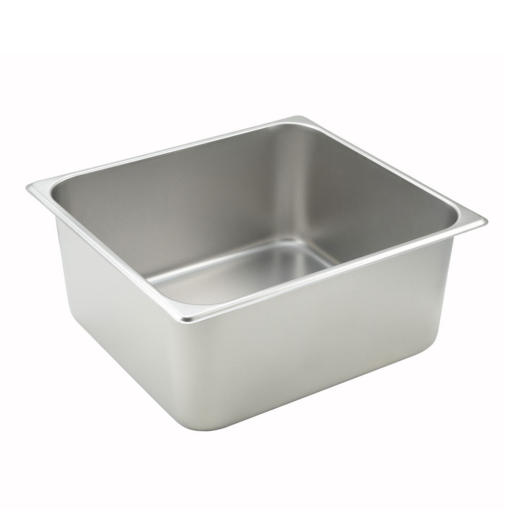 Winco SPTT6 Two-Third Size Steam Pan, Stainless