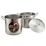 "Winco SSDB-20 11.8"" Stainless Steel Double Boiler w/ 20-qt Capacity"