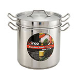 "Winco SSDB-8 9.5"" Stainless Steel Double Boiler w/ 8-qt Capacity"