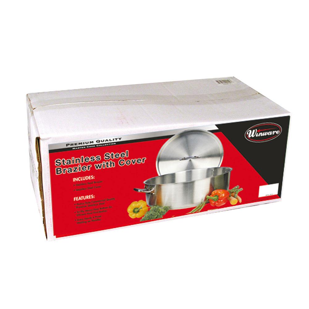 Winco SSLB-30 30-qt Stainless Steel Braising Pot