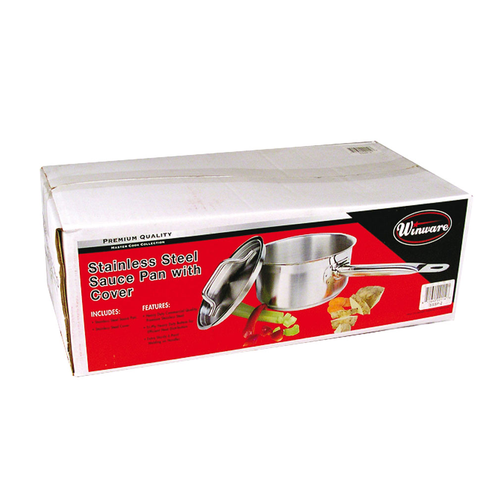 Winco SSSP-4 4.5-qt Stainless Steel Saucepan w/ Hollow Metal Handle