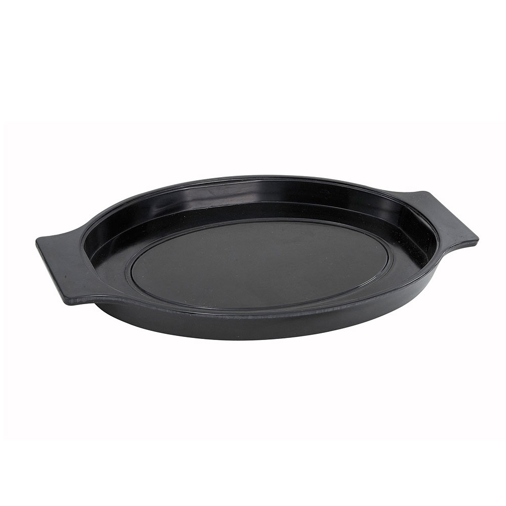 Winco SWU-11 Oval Underliner for Sizzling Platter, Black