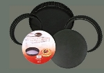 Winco NFTM-11 Non-Stick Fluted Tart Mold, 11 in x 1 in