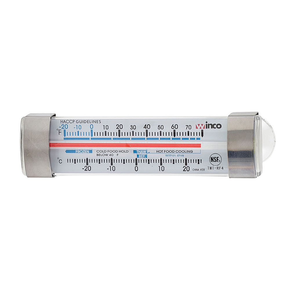 "Winco TMT-RF4 4.75"" Dial Type Refrigerator Freezer Thermometer, Temp Range -20 to 70-F"