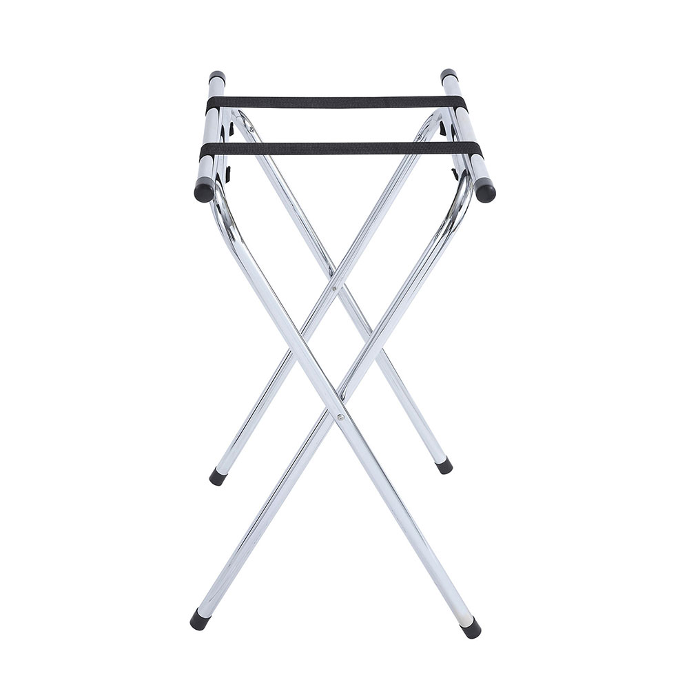 "Winco TSY-1A 31"" Tray Stand w/ Bar, Chrome"