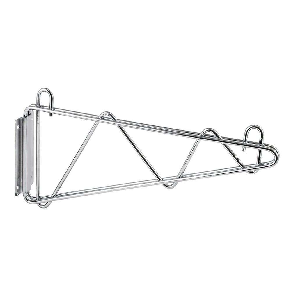 "Winco VCB-24 24"" Wire Shelf Mounting Bracket - 1-pr, Chrome Plated"