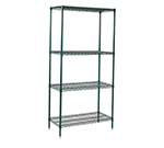 Winco VEXS-1848 Epoxy Coated Wire Shelving Unit w/ (4) Levels, 18x48x72""