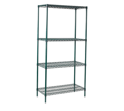 Winco VEXS-2448 Epoxy Coated Wire Shelving Unit w/ (4) Levels, 24x48x72""