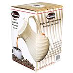 Winco VSW-64W Beverage Server, 64 oz, Insulated, Swirl Design, White