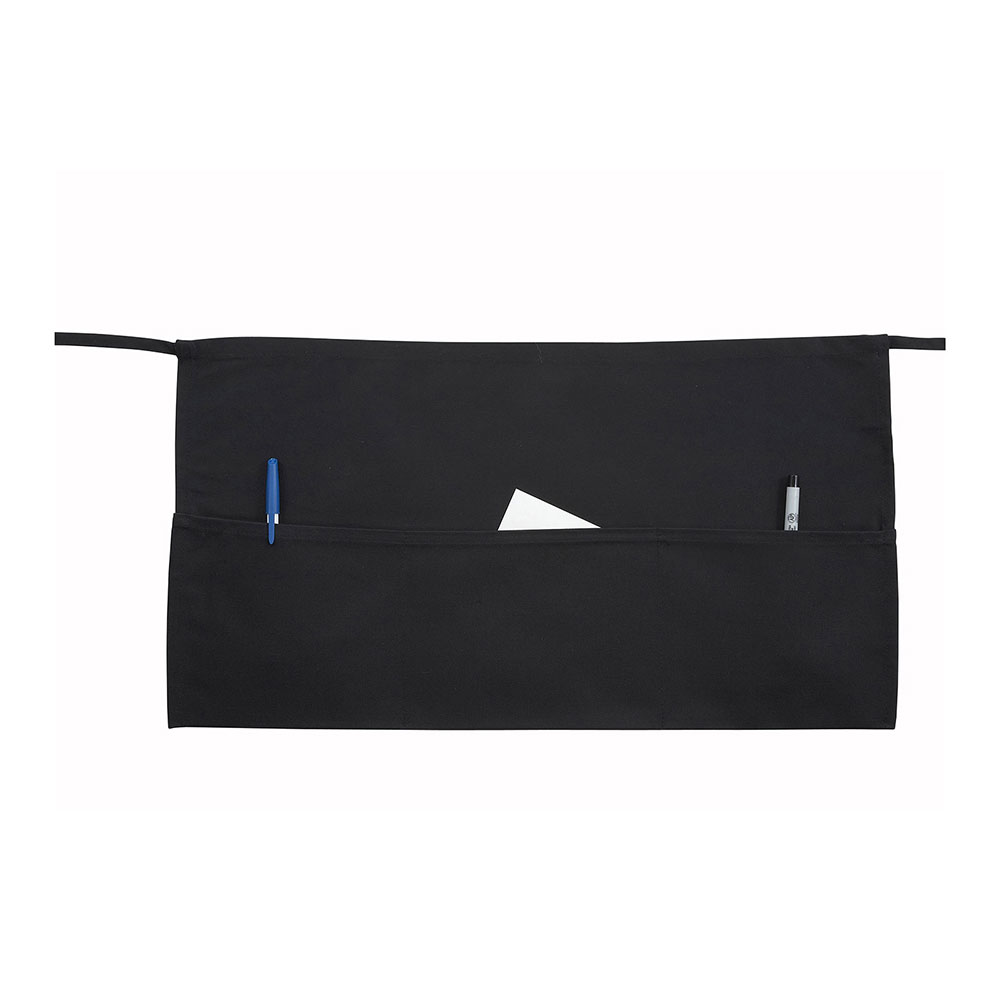 Winco WA-1221 Cotton Waist Apron,  Black