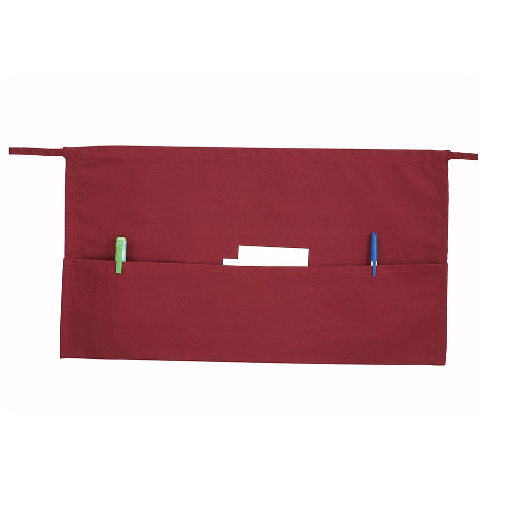 Winco WA-1221R Cotton Waist Apron, Burgundy