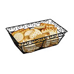 "Winco WBKG-9 Rectangular Bread/Fruit Basket, 9 x 5-7/8 x 3""H, Wire"