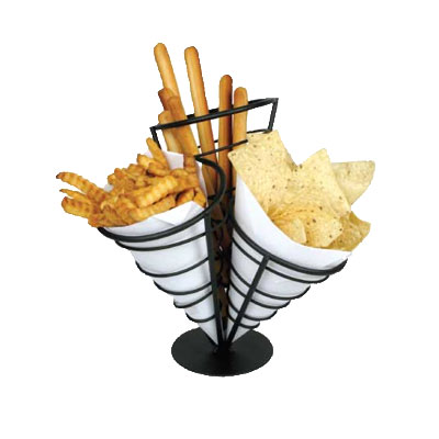 Winco WBKH-10 3-Cone French Fry Basket, 5-1/8 Diameter x 10-3/4 H, Wire