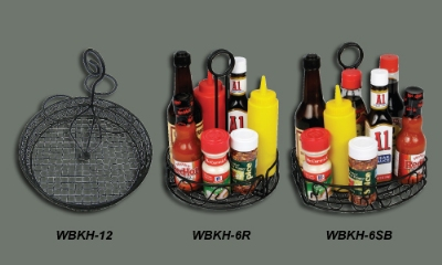 Winco WBKH-6SB Condiment Caddy, 8-1/4 in x 6-1/4 in x 9 in H, Straight Back, Wire