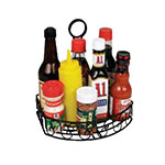 "Winco WBKH-6SB Condiment Caddy, 8-1/4"" X 6-1/4"" X 9""H, Straight Back, Wire"