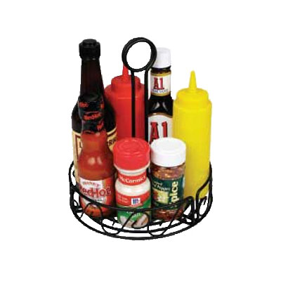 "Winco WBKH-7R Condiment Caddy, 7.5""D x 9""H, Wire"