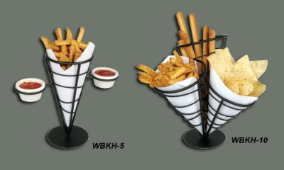 Winco WBKH-5 French Fry Basket, 4-5/8 in Diameter x 9-3/8 in H, Wire