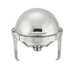 Winco 602 7-qt Round Madison Chafer w/ Stainless Frame, Roll Top