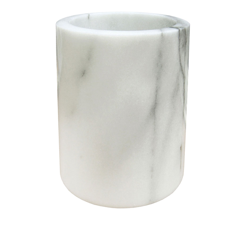 "Winco WC-7M 4.5"" Round Wine Cooler, White Marble"