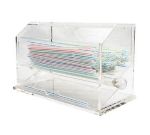 Winco ACSD-712 Straw Dispenser, Clear Acrylic