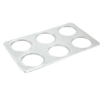 Winco ADP-444 Adapter Plate w/ (6) 4.75-in Diameter Inset Holes, Stainless
