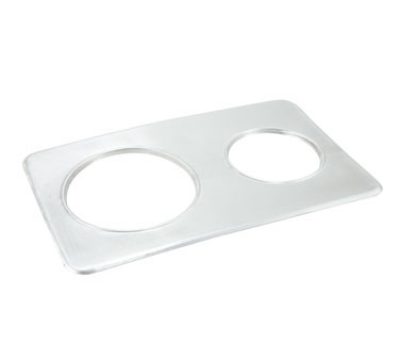 Winco ADP-608 Adapter Plate w/ (2) 6.37 & 8.37-in Holes, Stainless
