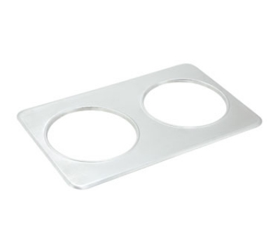 Winco ADP-808 Adapter Plate w/ (2) 8.37-in Holes, Stainless