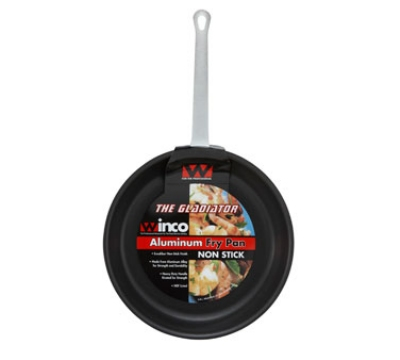 "Winco AFP-7XC 7"" Aluminum Frying Pan w/ Solid Metal Handle"