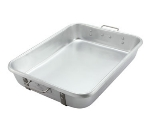 Winco ALRP-1824 Double Roast Pan w/ Straps, 18 x 24 x 4.5-in, Aluminum