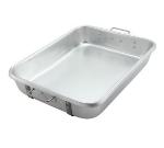 """Winco ALRP-1824 Double Roast Pan w/ Straps, 18 x 24 x 4.5"""", Aluminum"""