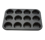 Winco AMF-12NS 12-Compartment Muffin Pan w/ Non-Stick Coating, Aluminum