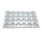 Winco AMF-24 24-Compartment Muffin Pan, Aluminum