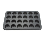 Winco AMF-24MNS 24-Compartment Mini Muffin Pan w/ Non-Stick Coating, Aluminum