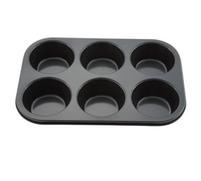 Winco AMF-6NS 6-Compartment Muffin Pan w/ Non-Stick Coating, Aluminum