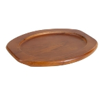 "Winco APL-10UL 10"" Oval Underliner for Sizzling Platter, Wood"