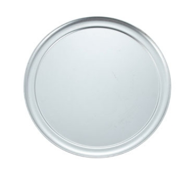"Winco APZT-12 12"" Round Wide Rim Pizza Pan, Aluminum"