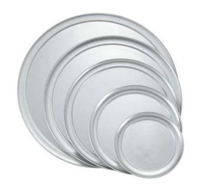 """Winco APZT-10 10"""" Round Wide Rim Pizza Pan, Aluminum"""