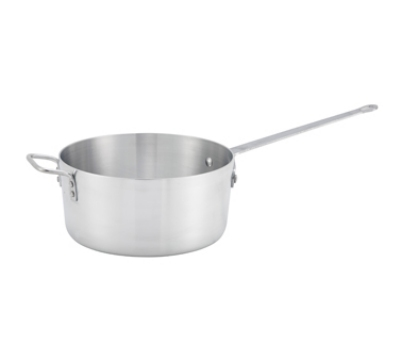 Winco ASP-7 7-qt Aluminum Saucepan w/ Solid Metal Handle