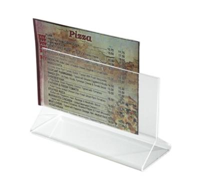 "Winco ATCH-53 Tabletop Menu Card Holder - 5.5"" x 3.5"", Acrylic"