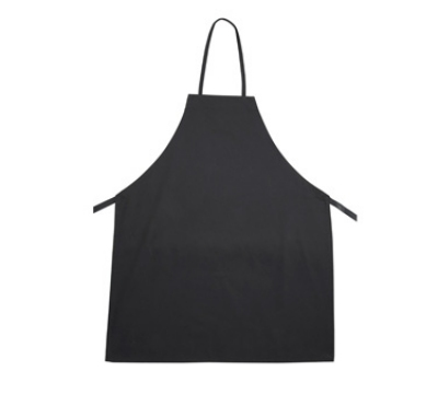 Winco BA-3226BK Bib Apron, Cotton & Polyester, Black
