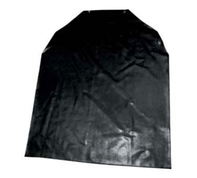 Winco BA-LA Latex Bib Apron, Black