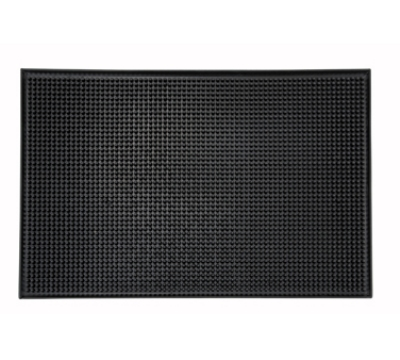 Winco BM-1812K Service Mat, 18 x 12-in, Black