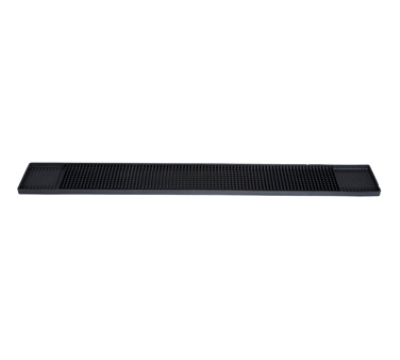 "Winco BM-327K Rubber Bar Mat, 27 x 3.25"", Black"