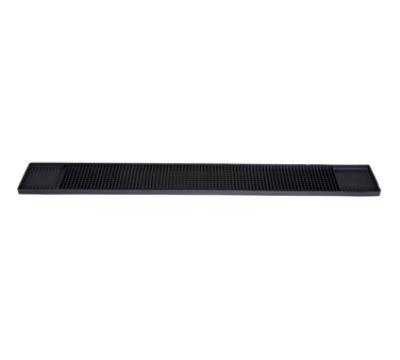 Winco BM-327K Rubber Bar Mat, 27 x 3.25-in, Black