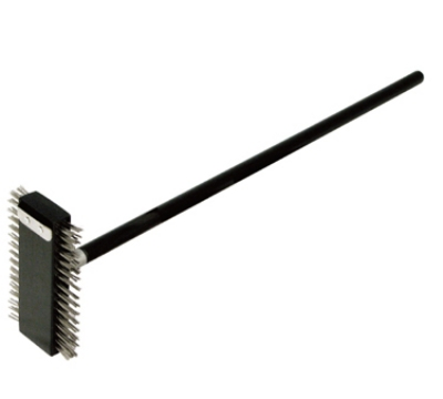 "Winco BR-30 30"" Wire Brush w/ Stainless Steel Bristles"