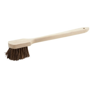 "Winco BRP-20 20"" Pot Brush w/ Wood Handle"